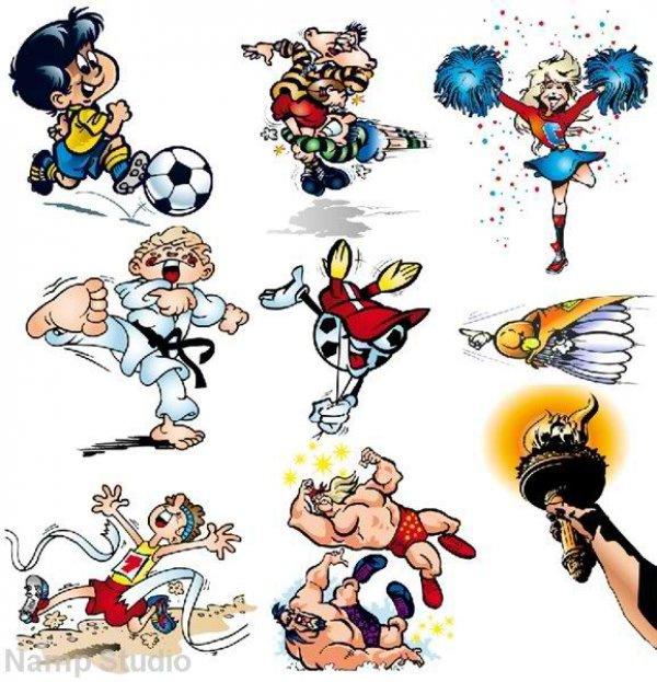 Открытки, прикольные рисунки о спорте детям