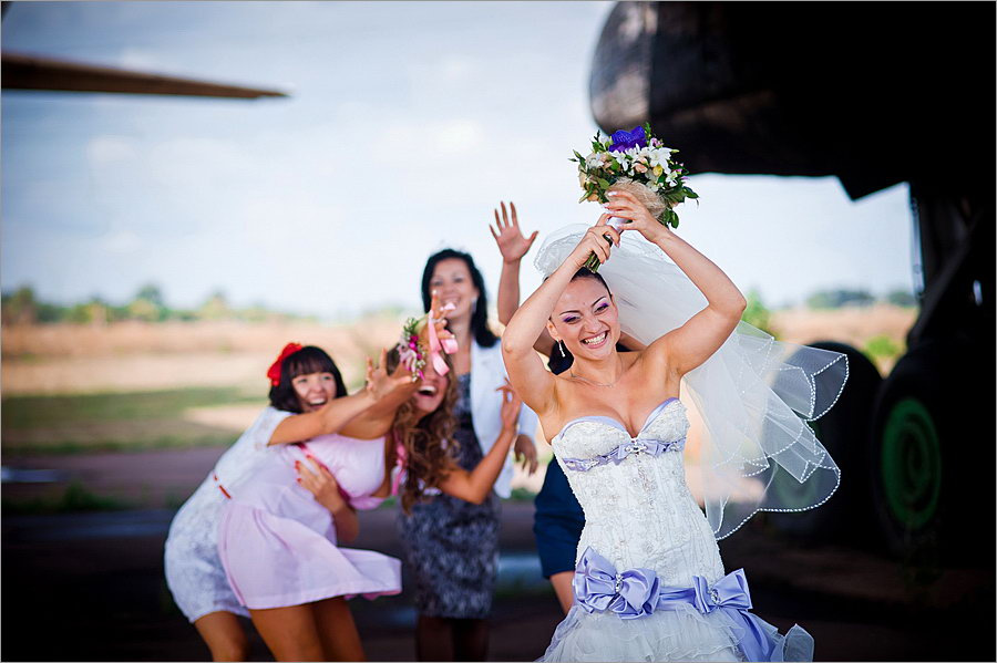 Описание где ловить свадебный букет