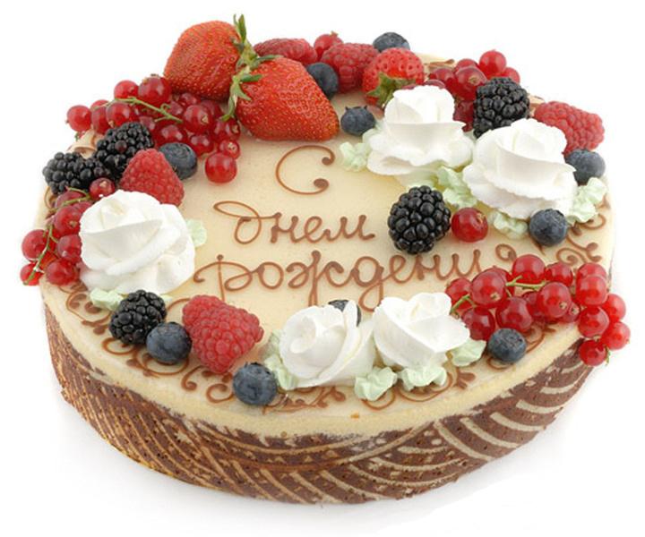 Поздравление с днем рождения на тортах