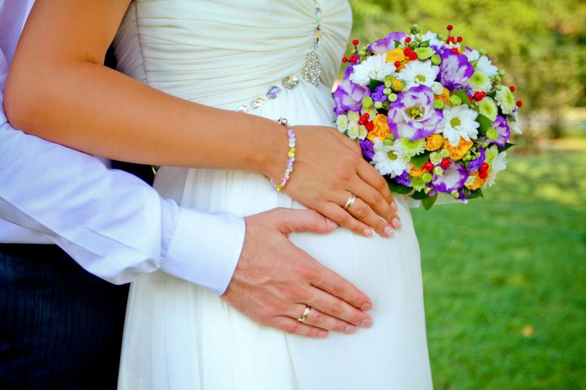 Свадьба при беременности срок