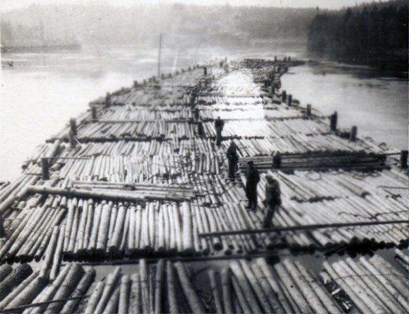 Когда на Вятке были самые большие деревянные плоты?
