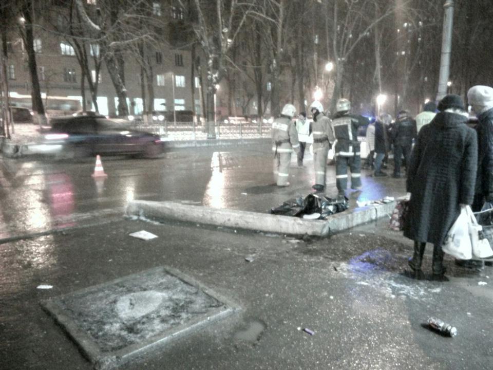 Появилось видео сместа трагедии наОктябрьском проспекте