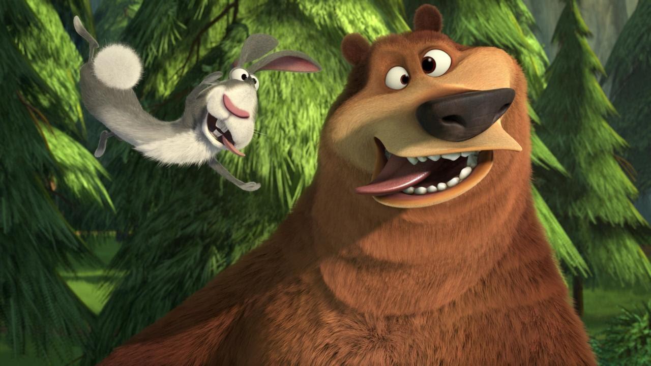 Картинка про зайца и медведя
