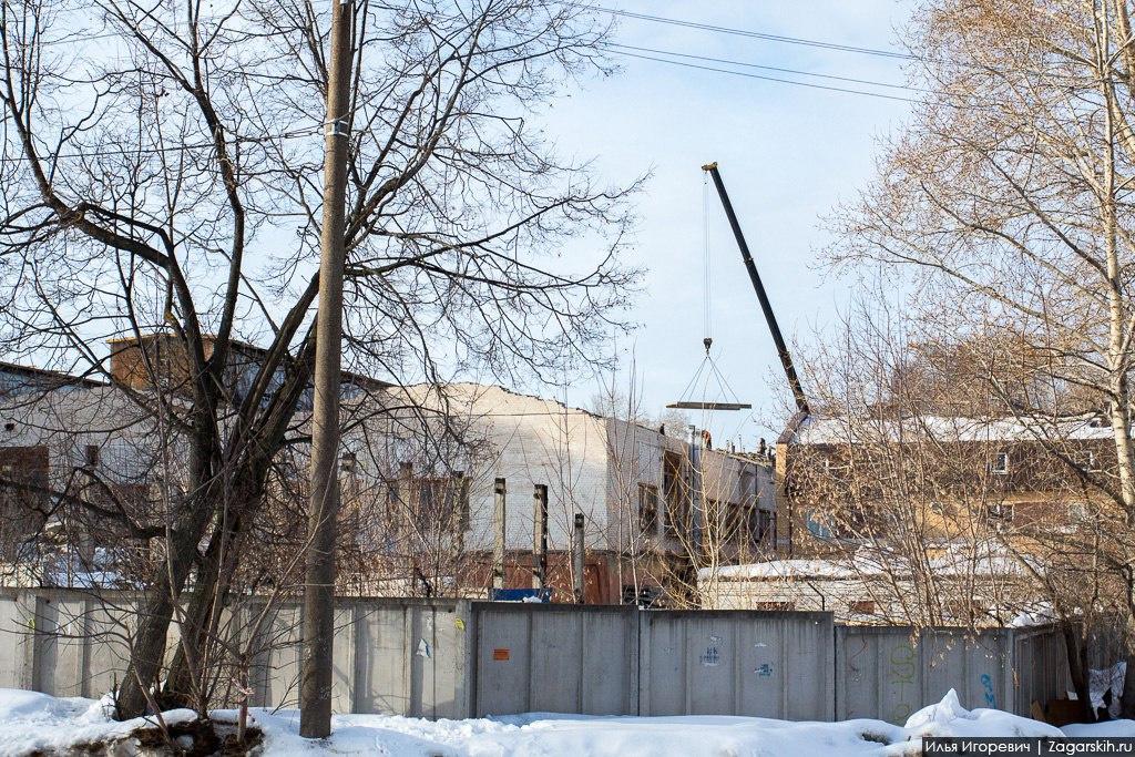 ВКирове начали сносить корпус завода КРИН