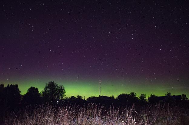 В Кировской области наблюдали северное сияние